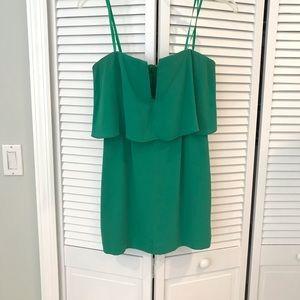 BCBGMaxAzria Kelly Green Strapless Dress